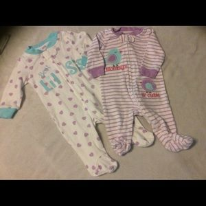 Koalababy newborn footies purple and white